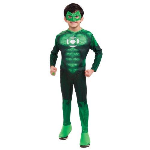 Rubies 3 884572 l - Kostüm DLX MC Green Lantern Größe L (Kinder Deluxe Green Lantern Kostüm)
