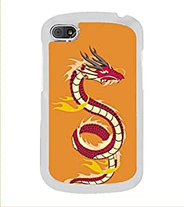 PrintVisa Animated Snake High Gloss Designer Back Case Cover for BlackBerry Q10