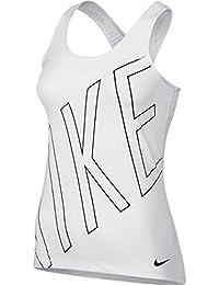 Nike W Np Hprcl Tank Explode Logo Camiseta de Tirantes, Mujer, Multicolor (Blanco/Negro), S