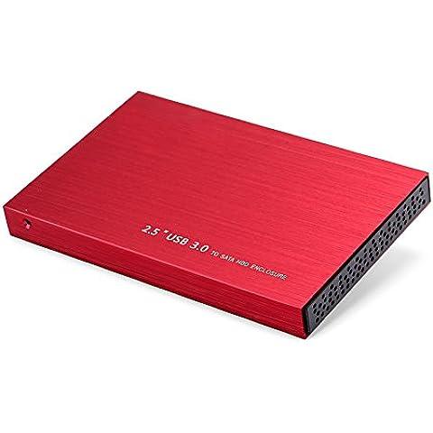 Goliton 3.0 disco duro externo SDD recinto de 2,5 pulgadas SATA 3 Unidad de disco duro port¨¢til Caddy Soporte caja de aluminio de 3 TB ordenador PC