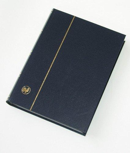 GOLDHAHN-Luxus-60 Schwarze Seiten A4 Briefmarkenalbum Einsteckbuch Blauer Einband