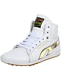 West Code Men's Boots Synthetic Leather Casual Shoes And Sneakers 801-G-White