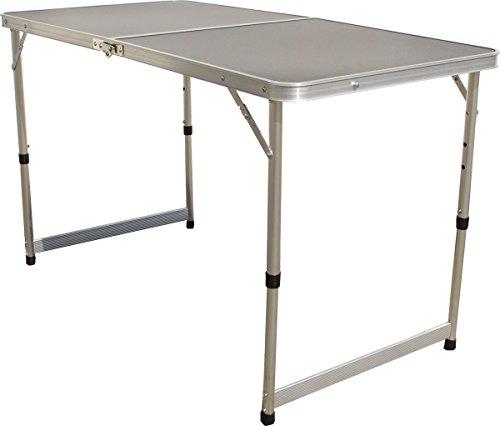 Klapptisch 120x60 cm, höhenverstellbar, Mehrzwecktisch Campingtisch, Flohmarkt Partytisch