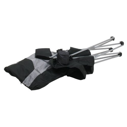 10T Lightboy - Faltbarer XXL Camping-Stuhl mobiler Hochlehner Maxi Polster-Sitzfläche Getränkehalter - 12