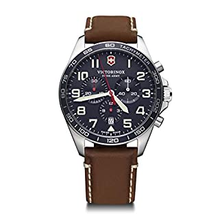 Victorinox Hombre Field Force Chronograph – Reloj de Acero Inoxidable de Cuarzo analógico de fabricación Suiza 241854