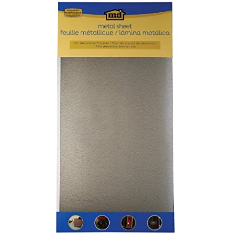 M-D Hobby & Craft Metal Magnetic Steel Sheet 12-inch x 24-inch, Silver