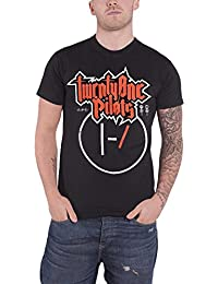 Twenty One Pilots 21 T Shirt Metal Clique Band Logo Official Mens Black