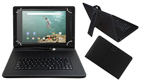 Acm Premium Usb Keyboard Case For Google Nexus 9 Cover Stand With Free Micro Usb Otg - Black  available at amazon for Rs.379