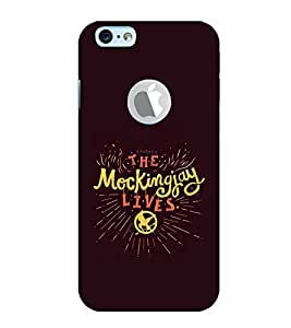 PrintVisa Designer Back Case Cover for Apple iPhone 6S (Logo View Window Case) (Quote Love Heart Messages Crazy Express Sorry )