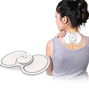 LIJJY Wieder Aufladbarer EMS-Zehn-Massager Und Muskel-Anreger, Zehner-Maschine Für Rücken- / Ansatz- / Schulter-Schmerz, Hauptentspannung/Büro-Schmerz-Entlastung, Drahtlose Operation USB-Gebühr