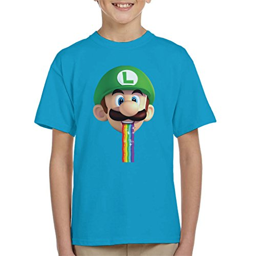 Boys Super Mario Luigi Puking Rainbow T-shirt, 3-13 years