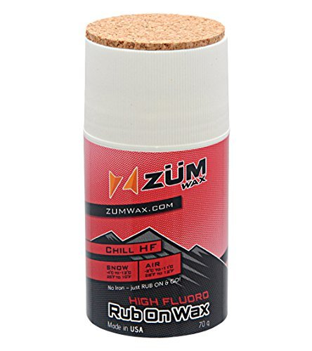 ZUMWax HIGH FLUORO RUB ON WAX Ski/Snowboard - CHILL Temperature - 70 gram - HIGH FLUORO Racing RUB ON Wax at incredible price!!! Super-FAST!!! by ZUMWax