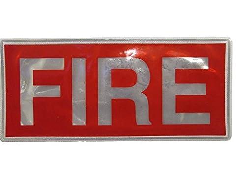Red Fire réfléchissant Grand Badge Livraison gratuite