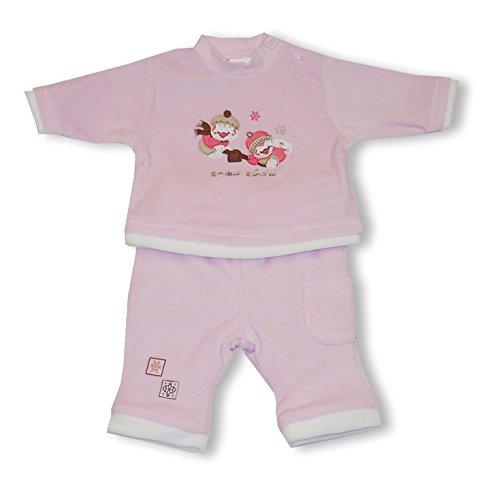 Schnizler Baby - Mädchen Bekleidungsset Nicki wattiert Funny Pinguin mit Langarmshirt und Hose, Gr. 56, Rosa (original 900)