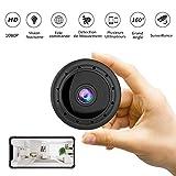 Caméras Espion - CUSFLYX Mini Caméra 1080P Portable WIFI Nourrice Animaux Bureau Sports Caméra de Surveillance Infrarouge Vision de Nuit Détection de Mouvement 160°Grand Angle pour iOS/Android -(Noir)