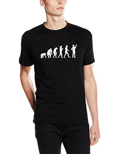Shirtzshop T-Shirt Standard Edition Waldhorn Jagdhorn Posthorn Jäger Evolution Schwarz S