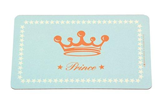 Kinder Schneidebrettchen Frühstücksbrettchen 'Prince' in Hellblau 23x14 cm