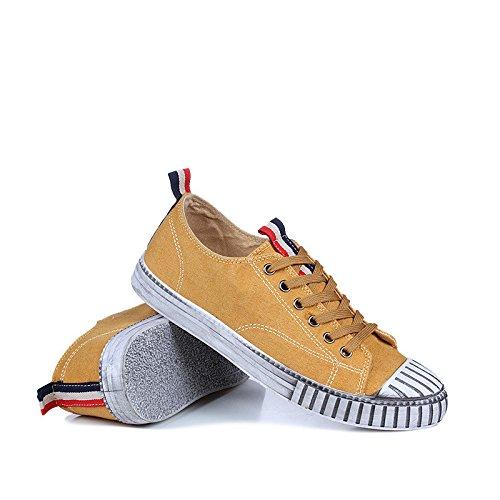 scarpe da skateboard casual scarpe uomini giapponesi shell testa uomini occasionale espadrilli yellow