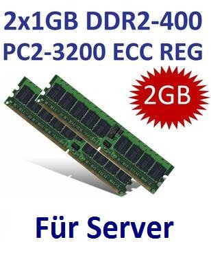 Dual Channel Kit: Samsung 2 x 1 GB DIMM 2 GB a 240 pin DDR2 - 400 ECC Registered = (400 MHz, PC2 - 3200r (Ddr2 Pc2 3200 Dual Channel)