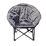 Zcxbhd Falten Tragbar mit Mondstuhl Freizeit Halter Stahlrahmen mit Tragetasche Mondstil zum Camping Ferien (Farbe : Gray)
