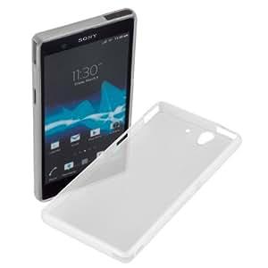 yayago Transparente Silikon Case Hülle Schutzhülle - Foggy/Transparent- Tasche für Ihr Sony Xperia Z