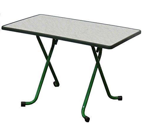 Table de Jardin pliante 4/6pers d'appoint 110x70cm Vert/Marbre de gênes