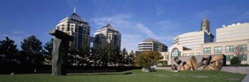 The Poster Corp Panoramic Images - Sculptures in a garden West Garden Oakland City Center Oakland Alameda County California USA Photo Print (45,72 x 15,24 cm)