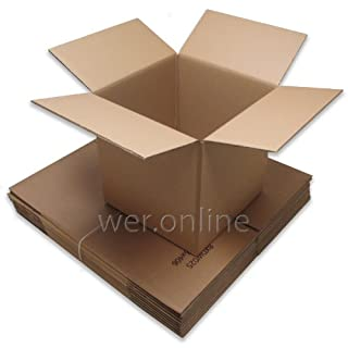 Ambassador Packing Carton Double Wall Strong Flat-packed 510x510x525mm Ref SC-57 [Pack of 15]