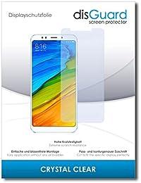[2 Unidades] Xiaomi Redmi Note 5 Protector de Pantalla disGuard® [Crystal Clear] Cristal, Transparente, Invisible / Anti-Arañazos, Anti-Burbujas, Anti-Huella Dactilar, Protección contra Arañazos / Película Protectora
