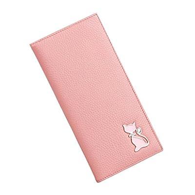 ZLR Mme portefeuille Portefeuille à longue section pour dames Lychee Motif Portefeuille en cuir de grande capacité multi-cartes