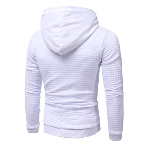 Koly Giacca a manica lunga da uomo Felpa con cappuccio Outwear Felpa con cappotto White