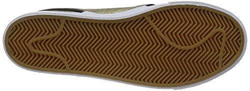 NIKE Air Zoom Stefan Janoski L Schuhe Herren Sneaker Sportschuhe Schwarz 616490 016 mtllc gld blk white-gm lght br