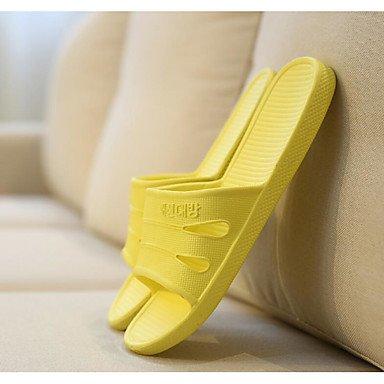 LQXZM fallen Komfort kundenspezifischen Materialien Casual flachem Absatz Andere Schwarz/Blau/Gelb/Pink Yellow