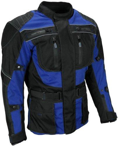 *Heyberry Touren Motorrad Jacke Motorradjacke Textil schwarz blau Gr. XXL*
