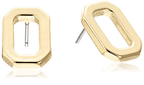 t-tahari-gold-polished-open-rectangle-stud-earrings