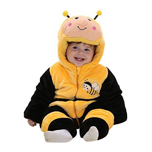 Eagsouni® Baby Mädchen und Jungen Winter Flanell Strampler Overall Outfits Anzug Karikatur Tier Schneeanzug Jumpsuit Spielanzug (Panda Kid Kostüme)