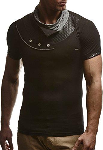 leif-nelson-herren-t-shirt-sweatshirt-slim-fit-ln285-grse-l-schwarz
