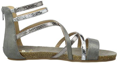 La Strada Silver Coloured Sandal, Sandales ouvertes femme Argent - Silber (1442 - cracked silver)