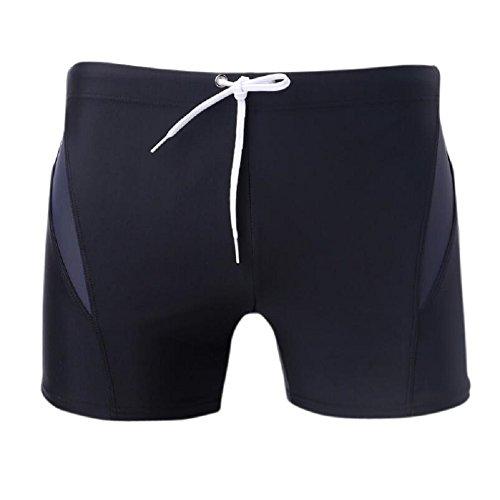 ZC&J Athleten professionelle Schwimm-Shorts, Wassersport-Notwendigkeiten, Outdoor-Erholung Strand Shorts, komfortable atmungsaktive Stretch-Stoff Badehose B