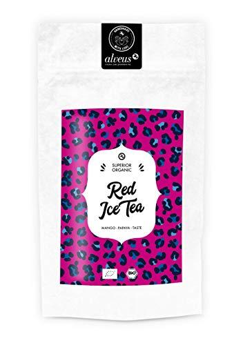 Papaya-grüner Tee (Alveus Red Ice Tea - Mango-Papaya Taste - 100g Bio-Eistee Packung)