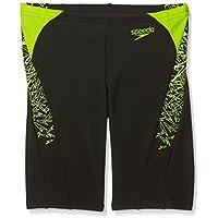 Speedo Boom Splice Pantalones Cortos, Niños, Negro/Verde (Manzana), 32