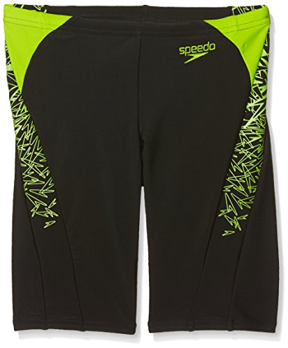 Speedo Jungen Boom Splice Jammer, Black/Apple Green, 28 (Splice Boy Short)