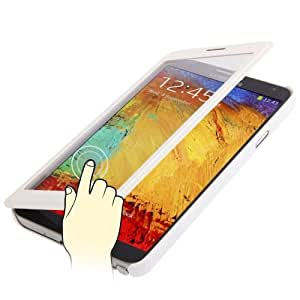 Full-screen Touchable Leather Case for Samsung Galaxy Note 3 N9000 in White