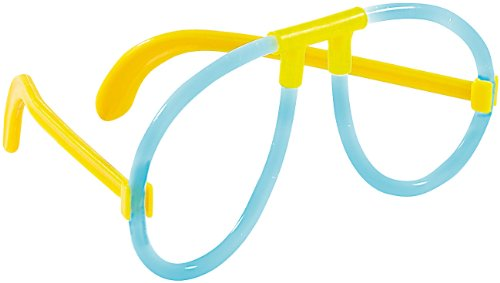 Lustig Passenden Kostüme (infactory Knicklichter für Kostüme: Lustiges Pilotenbrillen-Gestell für Knicklichter, 10er-Set (Knicklichter als)