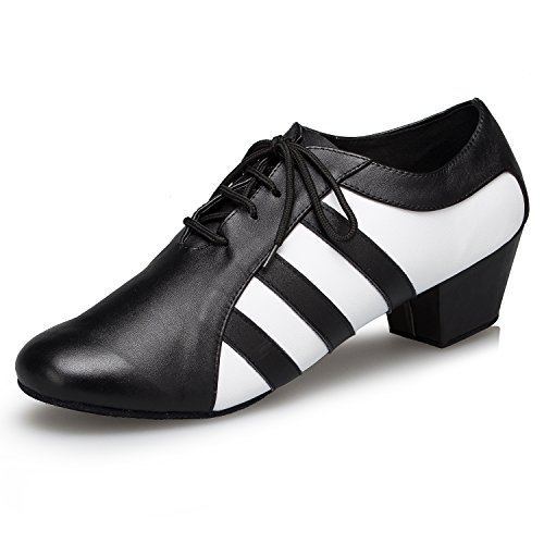 Miyoopark ,  Herren Tanzschuhe Black/White-4.5cm heel