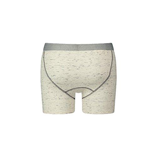 LEVIS Herren Long Boxer 300LS TRI-BLEND 1er Pack Middle Grey Melange