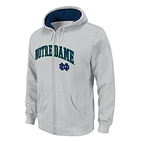 Notre Dame Fighting Irish NCAA 2013 Full Zip Hooded Sweatshirt - Grey (Irish Ncaa)
