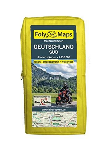 FolyMaps Motorradkarten Deutschland Süd: 1:250 000