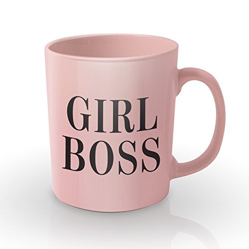 Girl Boss rosa taza de café–celebrar y potenciar la Inspirational mujeres en su vida–la perfecta de la novedad, Funny Idea de regalo de Navidad o cumpleaños para sus ml–cerámica–viene en bonita caja de regalo rosa
