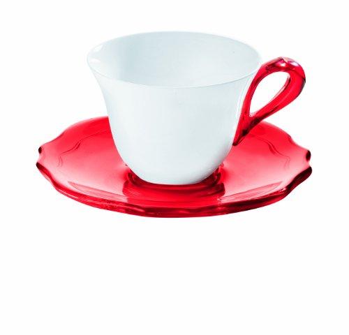 Guzzini Fratelli Belle Epoque, 6 Espressotassen mit Untertassen, SAN|SMMA|Porcelain -
